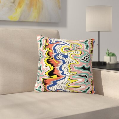 DLKG Design Modern Expression Abstract Illustration Outdoor Throw Pillow Size: 18 H x 18 W x 5 D