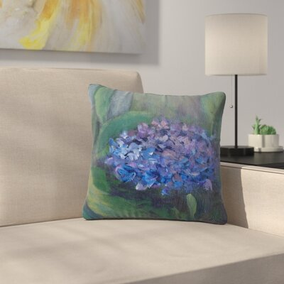 Cyndi Steen Hydrangea Floral Outdoor Throw Pillow Size: 18 H x 18 W x 5 D