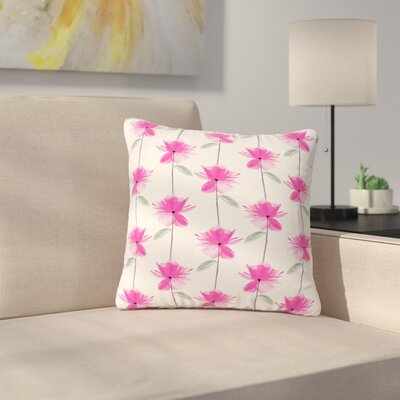 DLKG Design XRay Petals Modern Digital Outdoor Throw Pillow Size: 18 H x 18 W x 5 D