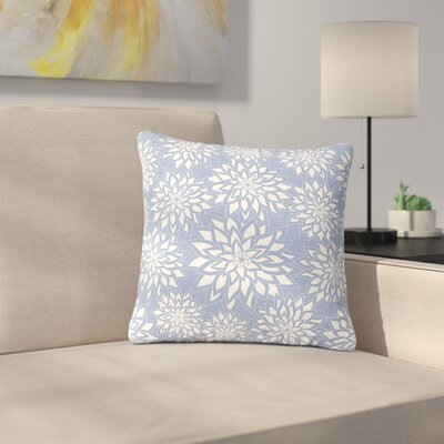 Julia Grifol Garden Digital Vector Outdoor Throw Pillow Size: 18 H x 18 W x 5 D, Color: Blue/White