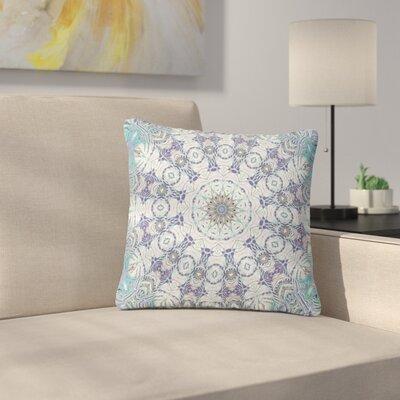 Alison Coxon Jungle Kaleidoscope Cool Outdoor Throw Pillow Size: 16 H x 16 W x 5 D, Color: Blue/Purple