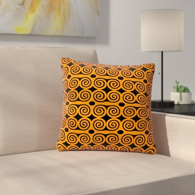 Dan Sekanwagi Locked Rams Horns - Contra Pattern Outdoor Throw Pillow Size: 16 H x 16 W x 5 D