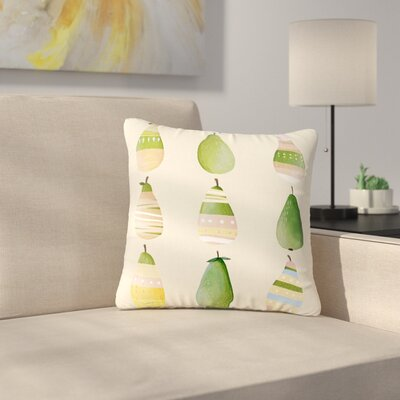 Judith Loske Happy Pears Outdoor Throw Pillow Size: 16 H x 16 W x 5 D