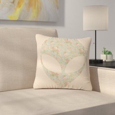 Alias Floral Alien Outdoor Throw Pillow Size: 18 H x 18 W x 5 D