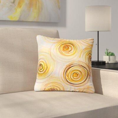 Maria Bazarova Spirals Outdoor Throw Pillow Size: 18 H x 18 W x 5 D
