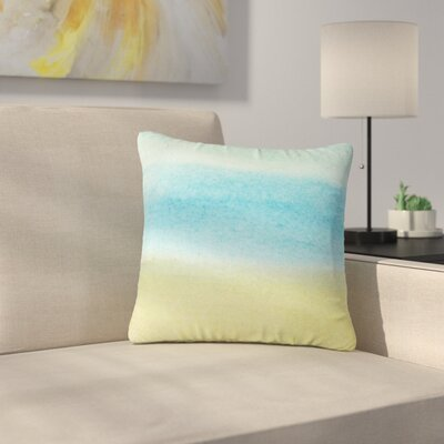 Jennifer Rizzo Watercolor Paint Stripe Outdoor Throw Pillow Size: 18 H x 18 W x 5 D