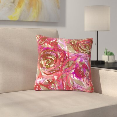 Ebi Emporium Rose Combustion Floral Outdoor Throw Pillow Size: 18 H x 18 W x 5 D