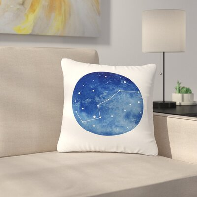 Ursa Major Celestial Outdoor Throw Pillow Size: 18 H x 18 W x 5 D