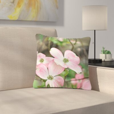 Jennifer Rizzo Spring Flowering Dogwood Outdoor Throw Pillow Size: 16 H x 16 W x 5 D
