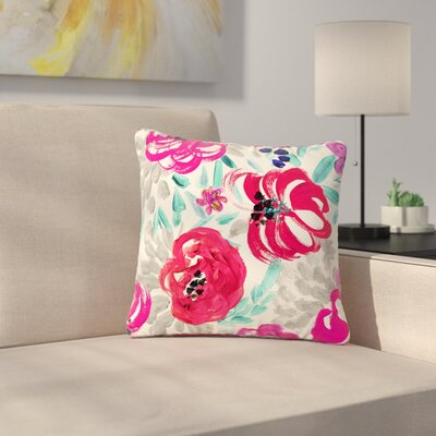 Crystal Walen Mona Brush Stroke - Floral Painting Outdoor Throw Pillow Size: 18 H x 18 W x 5 D