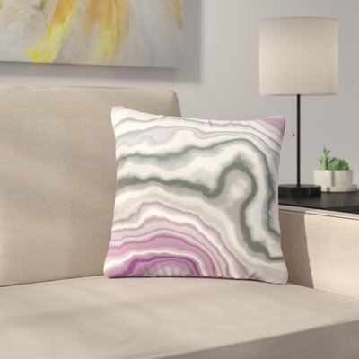 Wild Boysenberry Geological Outdoor Throw Pillow Size: 18 H x 18 W x 5 D