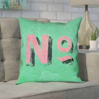 Enciso Graphic Wall Pillow Cover Size: 16 x 16, Color: Green/Pink