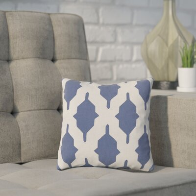 Meadors Throw Pillow Size: 18 H x 18 W x 4 D, Color: Navy, Filler: Down