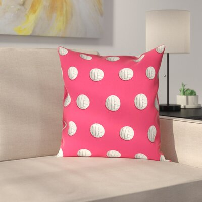 Volleyball Linen Pillow Cover Size: 20 x 20, Color: Red