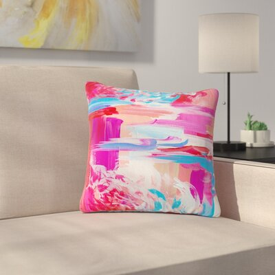 Ebi Emporium On the Move Magenta Outdoor Throw Pillow Size: 18 H x 18 W x 5 D
