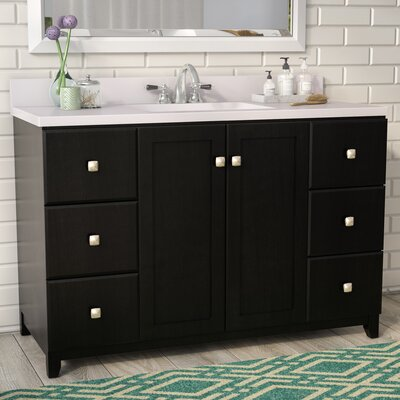 Rosalynn 2-Door 49 Single Bathroom Vanity Base Finish: Espresso