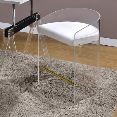 Clairmont Acrylic Shape U 25 Bar Stool