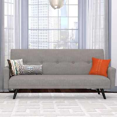 Westbrooks Click Clack Futon Convertible Sofa Upholstery: Dove Gray