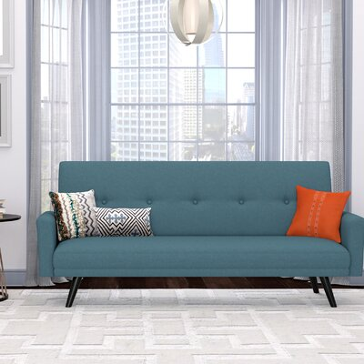 Westbrooks Click Clack Futon Convertible Sofa Upholstery: Blue