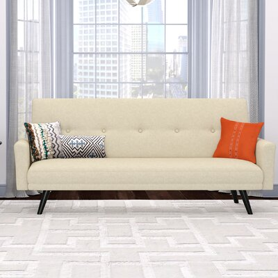 Westbrooks Click Clack Futon Convertible Sofa Upholstery: Oatmeal Tan
