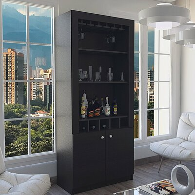 Barnfield Buffet for Bottle and Glass Storage Bar Cabinet
