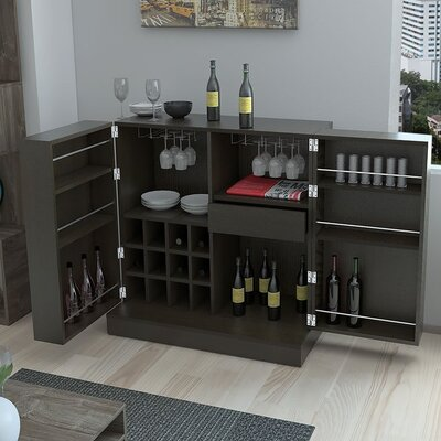 Chino Bar Buffet 12 Bottle Floor Wine Rack