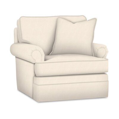 Kensington Swivel Armchair Upholstery: White Textured Plain; 0863-91