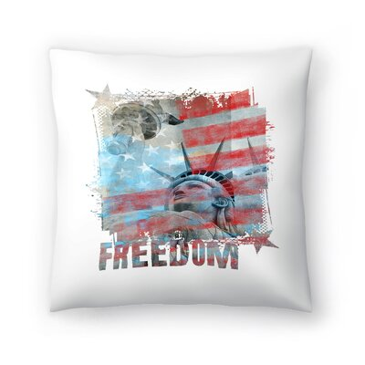 USA Throw Pillow Size: 18 x 18