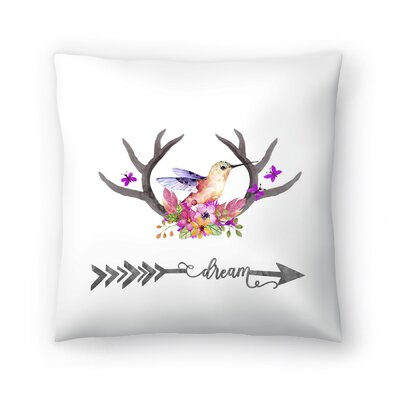 Kolibri Dream Throw Pillow Size: 16 x 16