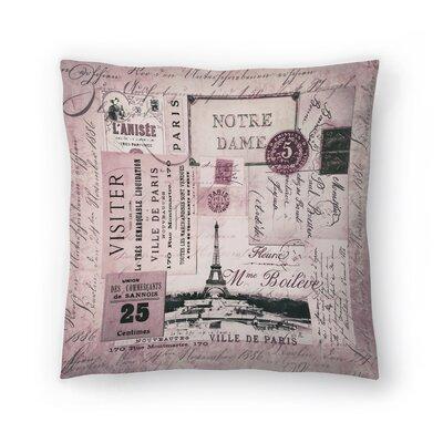Nostalgic Paris Throw Pillow Size: 20 x 20