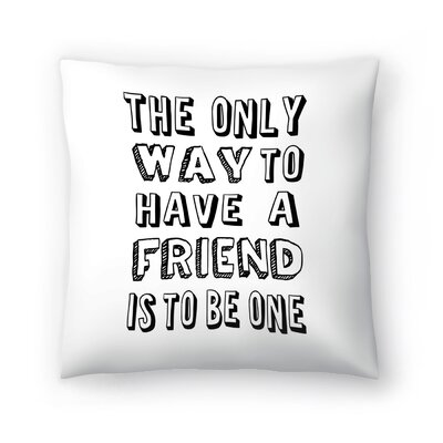 Sprache Throw Pillow Size: 16 x 16