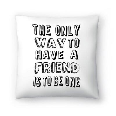 Sprache Throw Pillow Size: 14 x 14