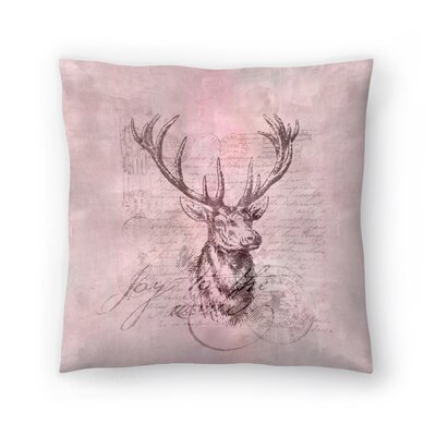 Deer Joy Throw Pillow Size: 14 x 14