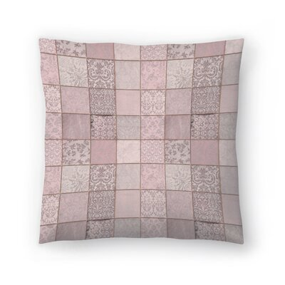 Patchwork Throw Pillow Size: 14 x 14, Color: Gray