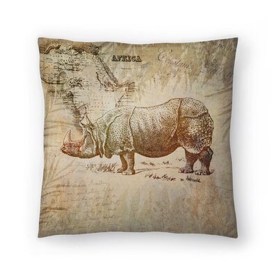 Vintage Animal Color 9 Throw Pillow Size: 16 x 16