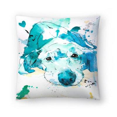 Labrador Retriever Throw Pillow Size: 14 x 14