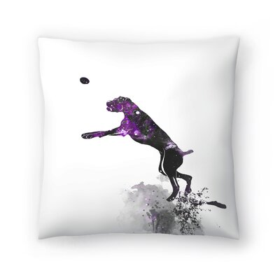 Boxer Silhouette Throw Pillow Size: 20 x 20