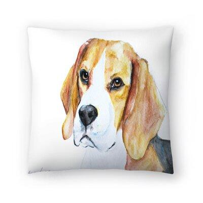 Beagle Throw Pillow Size: 14 x 14