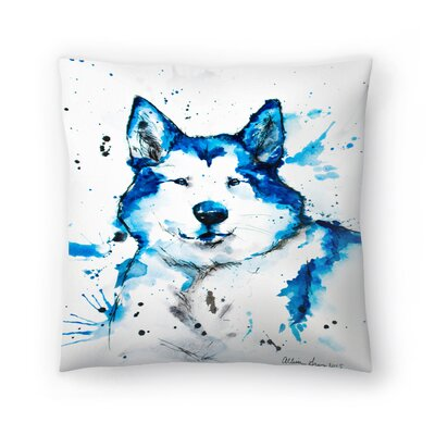 Husky Throw Pillow Size: 16 x 16