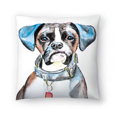 Boxer Throw Pillow Size: 16 x 16