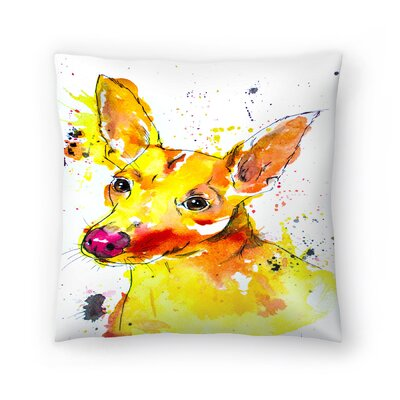 Chihuahua Mix Throw Pillow Size: 14