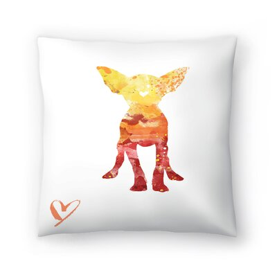 Chihuahua Silhouette Throw Pillow Size: 16