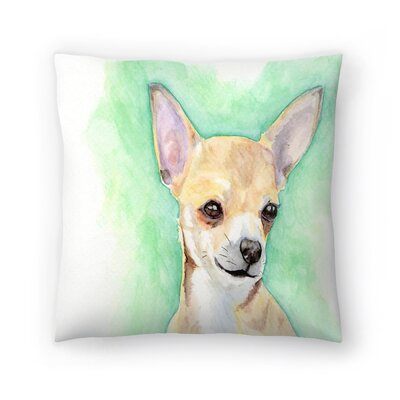 Chihuahua Throw Pillow Size: 14