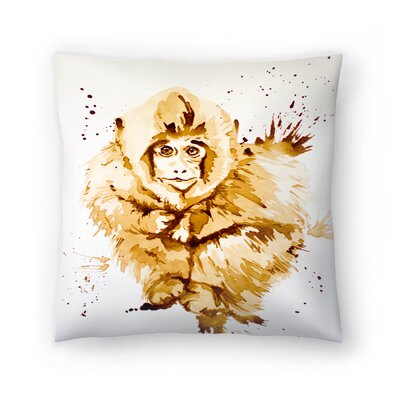 Monkey Throw Pillow Size: 16 x 16