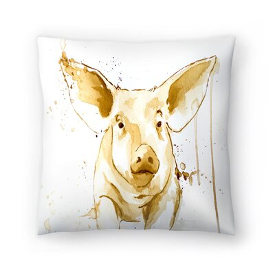 Pig Throw Pillow Size: 18 x 18