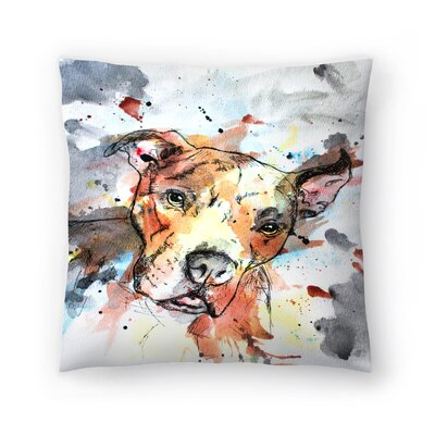 Colorful Dog Throw Pillow Size: 16 x 16