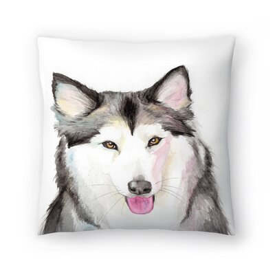 Husky Throw Pillow Size: 14 x 14