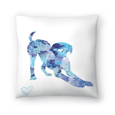 Labrador Puppy Throw Pillow Size: 14 x 14