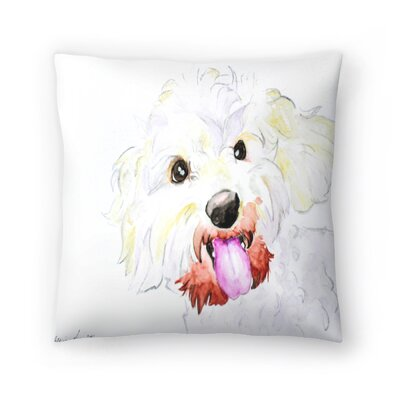 Miniature Poodle Mix Throw Pillow Size: 16 x 16
