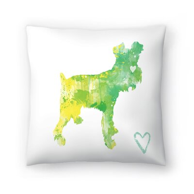 Miniature Schnauzer Throw Pillow Size: 14 x 14